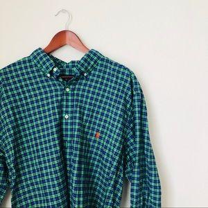 Polo•Plaid Button Down Shirt